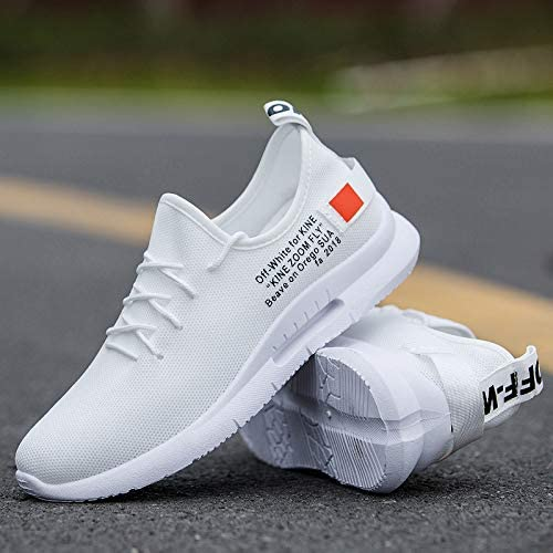 NANXIEHO Autumn And Winter Breathable Leisure Fashion Fashion Fashion Flying Weaving scarpe Youth Men Non-Slip Sport Single scarpe Light Damping Running scarpe B07GTF2SCG Parent | flagship store