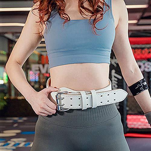 NBRTT Echtleder-Trainingsgürtel Richtiges Gewichtheben, gepolstertes konturiertes Gewichtheben mit Wildlederfutter und Rollschnalle für das Training im Kraftdreikampf-Fitnessstudio -