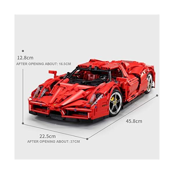 Tosbess Technic Auto Sportiva Ferrari Enzo, 2,4Ghz RC 1:10 Auto con Motore e Telecomando, 2615 Pezzi Blocchetti di… 3 spesavip