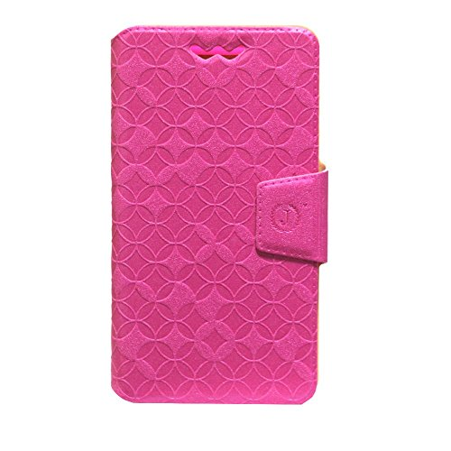 Jo Jo Cover Aarav Series Leather Pouch Flip Case With Silicon Holder For Samsung Galaxy Core Prime Dark Pink  available at amazon for Rs.490