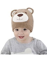 Dr.mama 2016 nuevo gorro de lana del invierno el traje del sombrero del oído orejera casquillo para bebé (6-12 meses, azul)