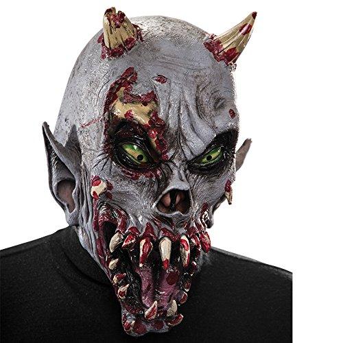 Carnival Toys - Máscara de látex demonio con encabezado, multicolor (1404)