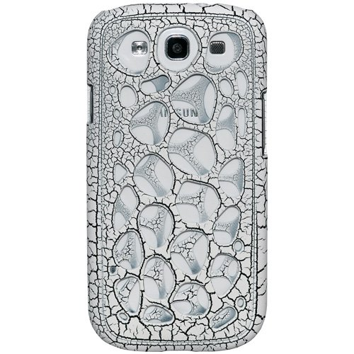 Amzer Synapse Snap on Hard Shell Case for Samsung Galaxy S3 Neo and S III GT i9300 (White / Black Craquelure)  available at amazon for Rs.479