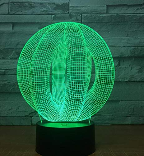 Kreative 3D Illusion Lichter LED Nachtlichter 3D abstrakte Grafiken Acrylatmosphäre Lichter Neuheit Beleuchtung Wohnkultur @ Modell 8_Model 7_Nur Touch-Schalter