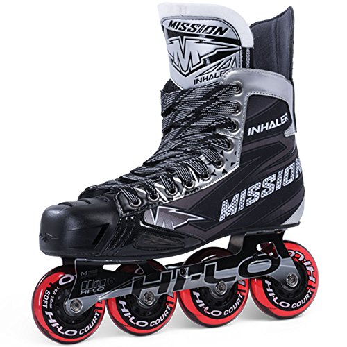 Bauer Mission Senior Inhalator nls5 Roller Hockey Skates, Mission RH Inhaler NLS:05 Skate SR, Schwarz, E 08.0