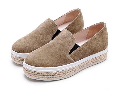 pin dascenseur croûte pour Mme femmes Brown sport chaussures simples épais chaussures Mme de gâteau dautomne Spring chaussures la chaussures de et qqwFxPSZ7