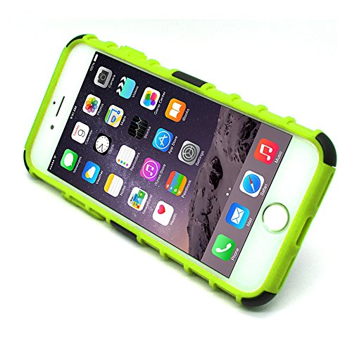 iProtect Apple iPhone 7, iPhone 8 Hülle 2in1 Protection Hard Case robuste Schutzhülle mit Standfunktion in schwarz grün