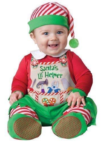 Deluxe Baby Jungen Mädchen Santa's Kleine Helfer Elfe Weihnachten Charakter Kostüm Kleid Outfit - Grün, 6-12 Months
