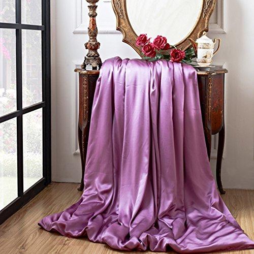 LJ&XJ Seide Quilt Abdeckung Single,Verdickte Einfachen Einfarbigen Duvet Cover Falten Beständig lichtbeständige Luxuriöse Elegante König & Königin-M 220x240cm(87x94inch) (Seide-bett-abdeckung)