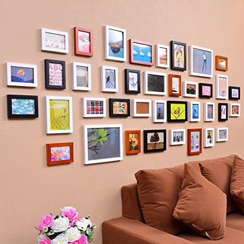 hjky Foto Definieren Rahmen aus Holz übergroßen Kombination Wanddekoration Wand Wohnzimmer Flur Ihr Bild Persönliche 38starkes Black and White Red - Bild Frame-8x10 Magnetische