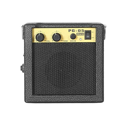 CHOULI E-Wave PG-05 5W Portable Guitar Amplifier Guitar Amp with 3 Inches Speaker Black (Speaker Portable Guitar)