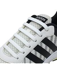 Newkeen Tie Shoelaces for Kids and Adults- silicone elastico piatto Laces  Athletic scarpa da corsa con multicolore per Scarpe Sneakerboots… 93e2dcd7f67