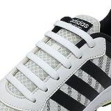 Newkeen No Tie Lacets pour les enfants et adultes, imperméables Silicon Flat élastiques Lacets de sport course de chaussures pour Shoes Sneaker Conseil Bottes et Souliers (White)