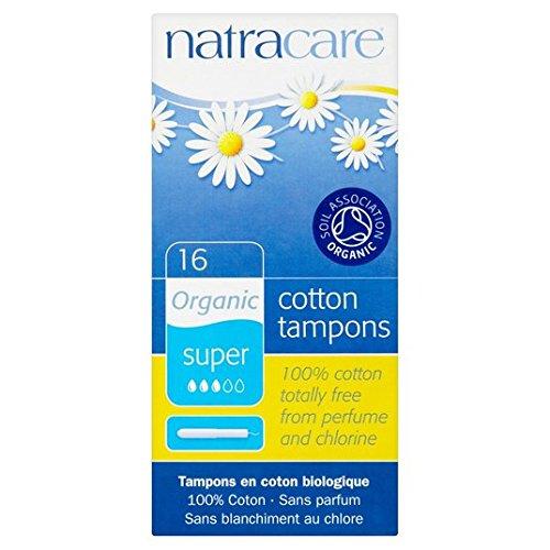 Natracare tampones super-Bio-aplicador 16 paquete