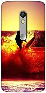 Snoogg Surfer Style Designer Protective Back Case Cover For Motorola Moto X Play