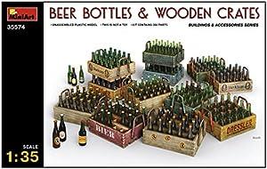 Unbekannt Mini Tipo 35574-Accesorios de construcción-Beer Bottles y Wooden Crates