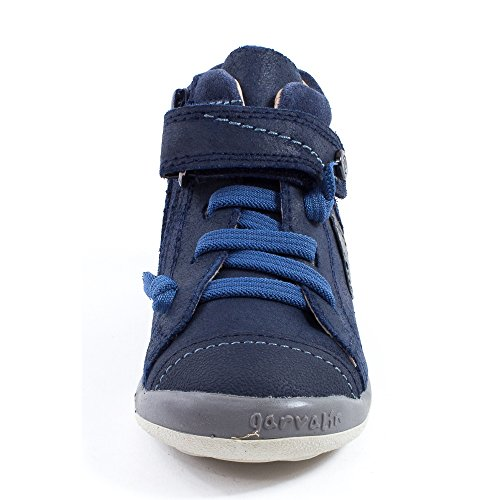 Garvalin Baskets garçon cuir bleu 151451A Bleu