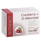 Cranberry + D-Mannose, entzündungshemmende, antibakterielle Tabletten (keine Kapseln) gegen Blasenentzündung, Harnwegsinfektionen und Prostatabeschwerden, 60 Tabletten (Monatspack)