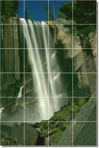 CASCADAS FOTO MURAL DE AZULEJOS PERSONALIZADOS 12  32X 48CM CON (24) 8X 8AZULEJOS DE CERAMICA