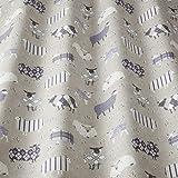 iLiv Baa Lavendel NEUHEIT bedruckt Schaf Stoff, 100% Baumwolle für Vorhänge, faltgardinen, Kissen, Polster, bastelarbeiten. ideal für ein Jungen oder Mädchen Schlafzimmer, Kinderzimmer Land inspiriert