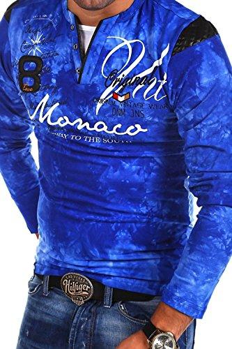 MT Styles 2in1 Longsleeve P-MONACO Blau R-0760 Blau