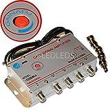 Amplificatore Segnale Antenna Sdoppiatore 4 Uscite Per TV Digitale Terrestre