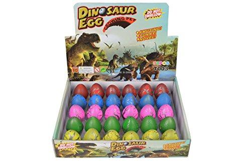Yeelan incubar huevos de dinosaurio de juguete cada vez mayor dragón de Dino para niños de gran tamaño PAC KOF estación de policía 30, grieta colorido