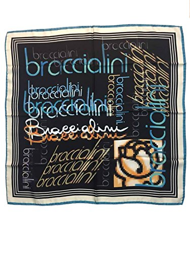 Foulard 70x70cm 100% seta BRACCIALINI (blu)