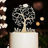 ROSENICE Kuchendeckel Hochzeit Kuchen Topper Cake Topper Kuchendekoration
