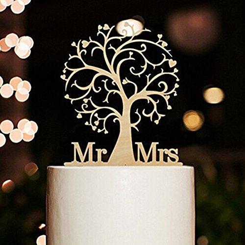 ROSENICE Kuchendeckel Hochzeit Kuchen Topper Cake Topper Kuchendekoration -