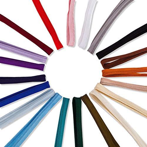 Kostüm Großhandel Billig - Neotrims 10MM FLANSCHE EINSATZ BINDUNGSROHRKABEL, SEIDIGER Viskose-Rayon, 20 Farben, starker fester Besatz für Kanten. Konstruktion ohne Stichlinie, 3mm Kordel ist Bestandteil des Paspels.