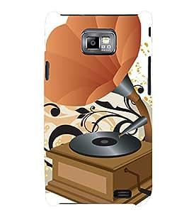 PRINTSHOPPII MUSIC PLAYER Back Case Cover for Samsung Galaxy S2::Samsung Galaxy S2 i9100