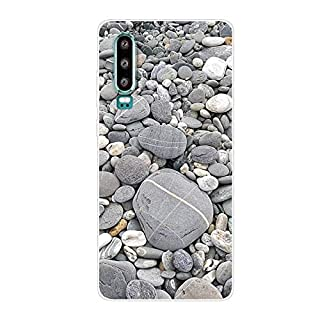 Aksuo for Huawei P30 Slim Shockproof Case, Exquisite Pattern Design Clear Bumper TPU Soft Flexible Rubber Silicone Skin Back Cover - Q-Huawei P30-51