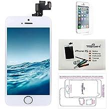 Para iPhone 5S Pantalla Blanco COMPLETA Premium Kit de reparación LCD - Trop Saint® + Fim Protector
