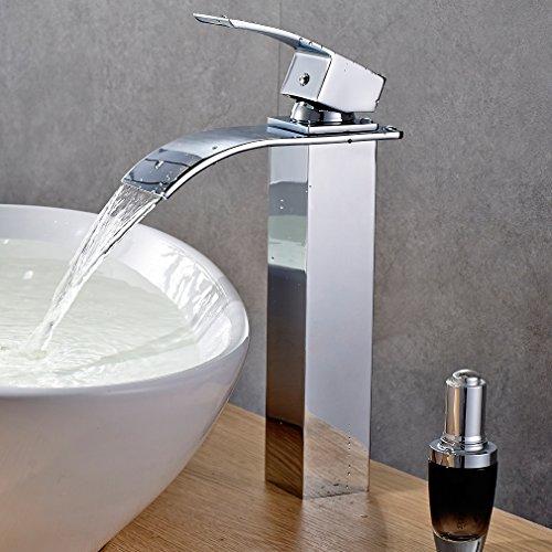Rubinetto miscelatore monoleva Auralum, a Cascata, per lavabo (bagno)