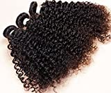 NiceToBuy Mixed Length Deep Kinky Curly Brazilian Virgin Remy Human Hair Weave Weft 3 Bundles 300 Grams Total Unprocessed Natural Color