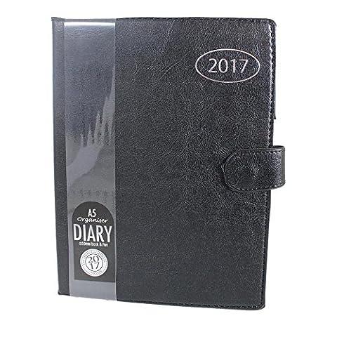 Agenda organiseur Noir 2017A5Adresse Livre & Pen Home Office Agenda