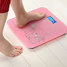 Sevia's Electronic Digital Body Weighing Scale, 8x10 Inch (Pink Color)