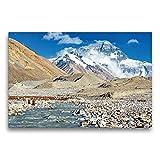 Il Gigante Mount Everest dal Campo di Base in Tibet, 75x50 cm
