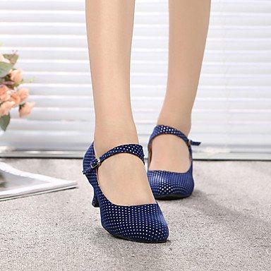 XIAMUO Dance Schuhe Wildleder/Lackleder Wildleder/Lackleder Latin/Moderne Heels Stiletto Heel Praxis/IndoorBlack Rot