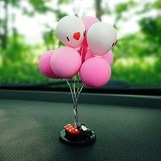 shunlidas Home Deko Dekoration Schlafzimmer Figurineinnenverzierung, Reizendes Regenbogenpferd, Einhorn-Autozubehör, Autozubehör, Frauen, Rosa Lächelnballon 1