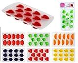 Eiswürfelformen Eiswürfelbereiter Früchte Silikon 1 Stück