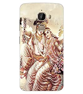 ColourCraft Lord Radha Krishan Design Back Case Cover for LeEco Le 2