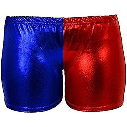 Mymixtrendz® mujeres Damas Harley Quinn Suicide Squad Pantalones cortos multicolores calientes 8-22