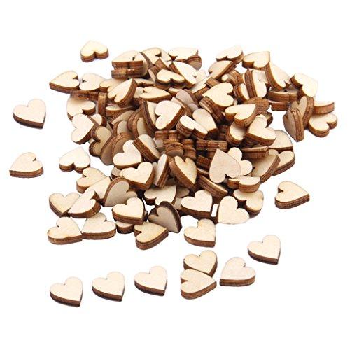 rz Form Holzscheiben zum basteln Holz Log Scheiben für DIY Handwerk Hochzeit Mittelstücke ()