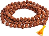 Original Rudraksha Jaap Mala for Pooja (Astrology) (108+1 Beads) 100% Pure & Lab Certified by Saubhagya Global
