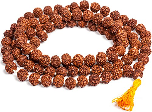 SAUBHAGYA GLOBAL Wood Brown Rudraksha Jaap Mala for Astrology (108+1 Beads)