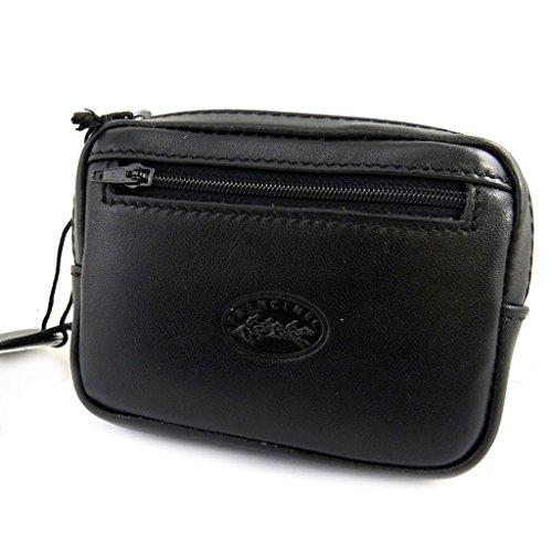 Bolsa de la correa de cuero 'Lafayette'negro (12x9x3 cm).