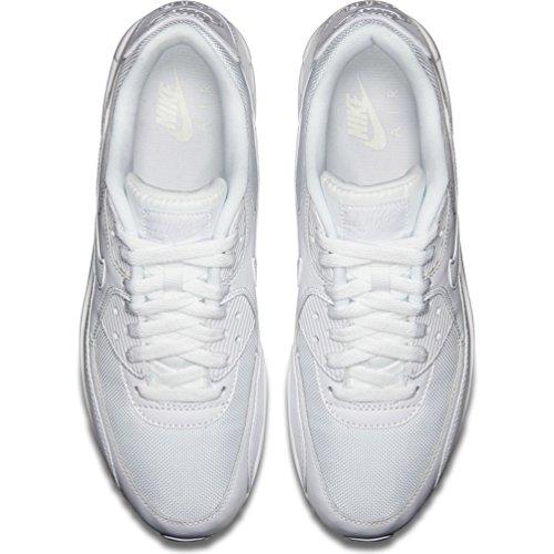Nike Air Max 90 Essential, Herren Sneakers, Weiß (White/white-white-white), 43 EU (8.5 Herren UK) - 2