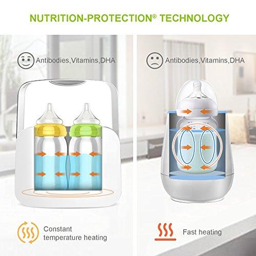 Bable Flaschenwärmer丨Sterilisator für Babyflaschen丨Babykostwärmer丨Multifunktionale Baby Flaschenwärmer mit Ernährungsschutz-Technologie and LCD Bildschirm - 3
